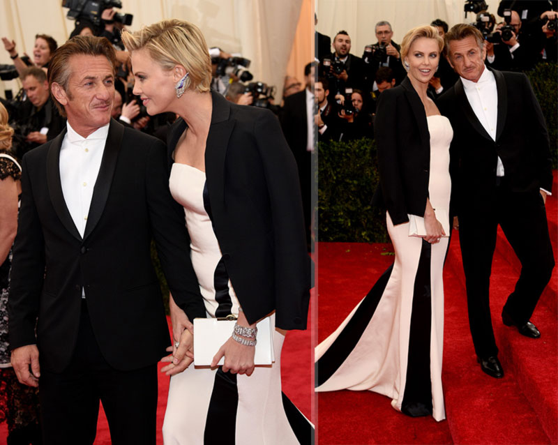 2014 Red Carpet couples Charlize Theron Sean Penn