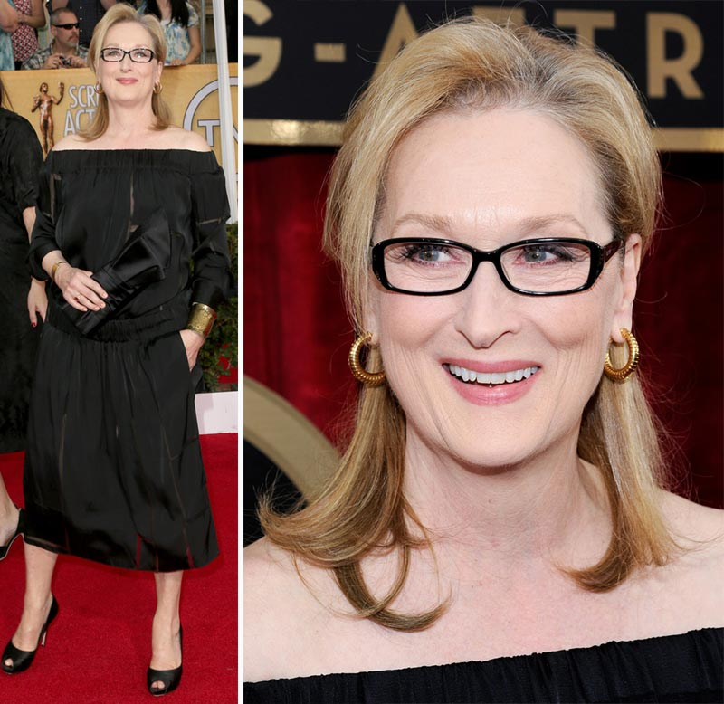 2014 SAG Awards black dress Stella Meryl Streep