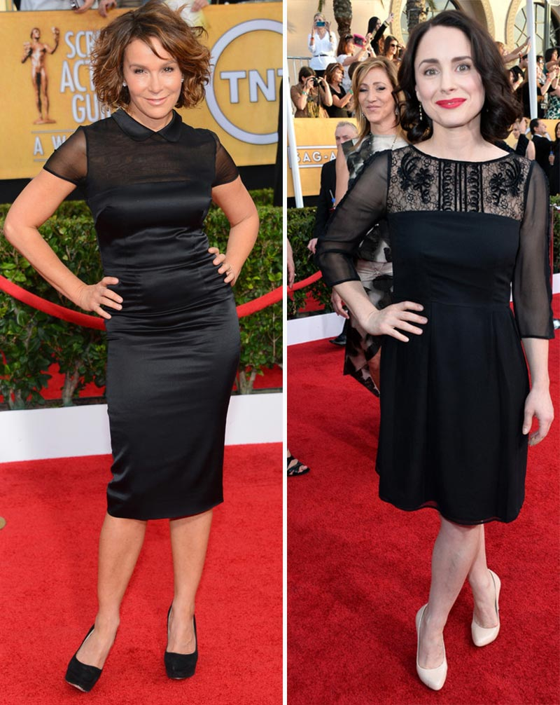 2014 SAG Awards black dresses Jennifer Grey Laura Fraser