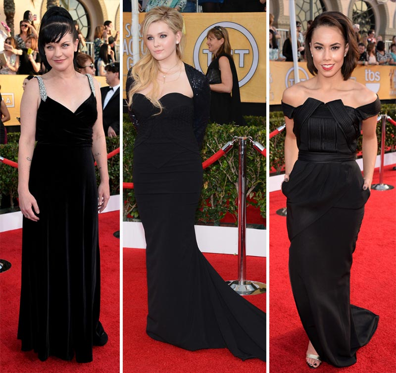 2014 SAG Awards black dresses Pauley Perette Abigail Breslin Alex Hudgens