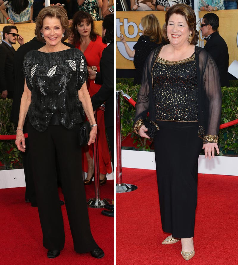 2014 SAG Awards black outfits Jessica Walter Margo Martingale