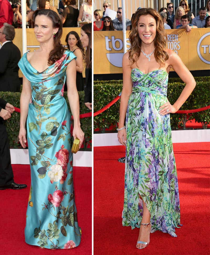 2014 SAG Awards dresses flowers Juliette Lewis Thea Andrews