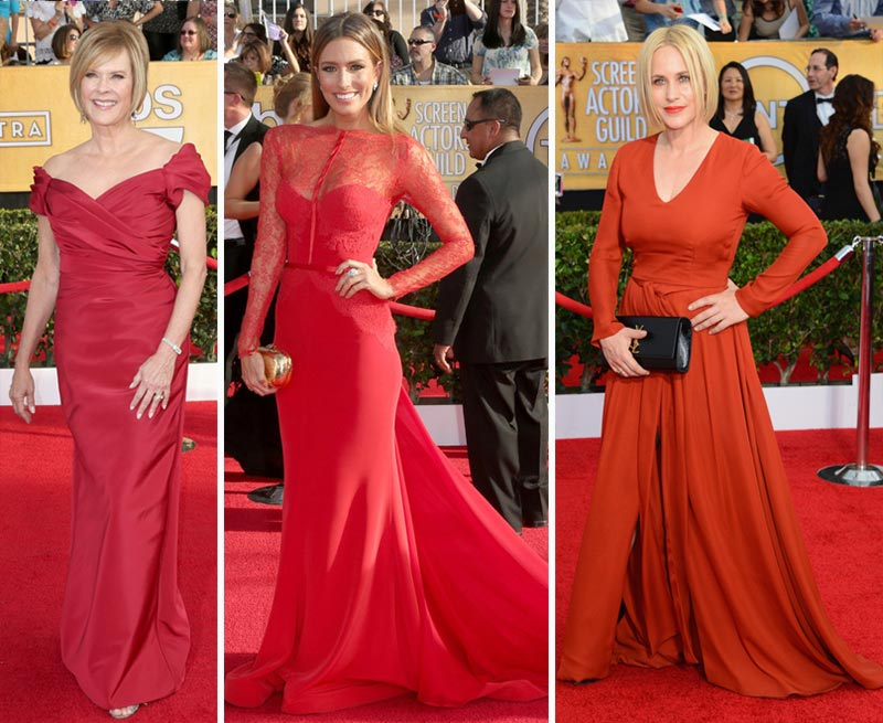 2014 SAG Awards red dresses JoBeth Williams Renee Bargh Patricia Arquette