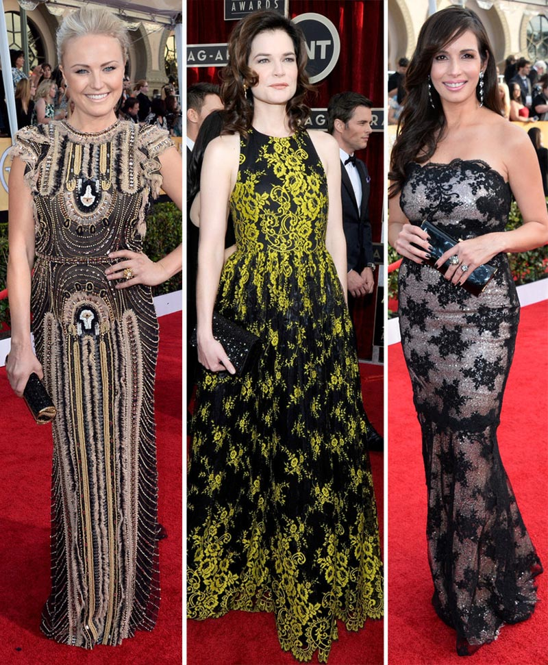 2014 SAG Awards dresses Malin Akerman Betsy Brandt Gisele Blondet