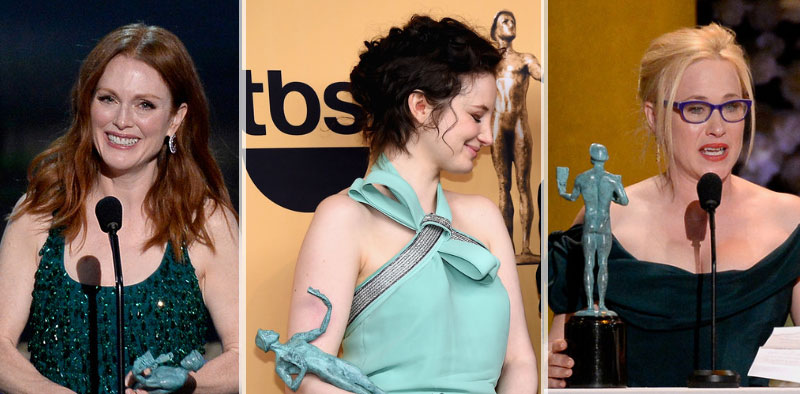 2015 SAG Awards winners dresses