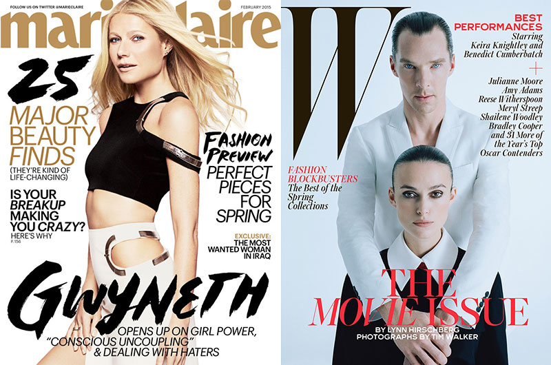 2015 first covers Gwyneth Cumberbatch Keira
