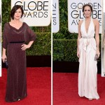 2015 Golden Globes Red Carpet Jenny Packham dresses Maura Tierney Louise Roe