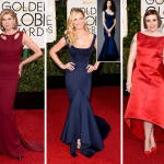2015 Golden Globes Red Carpet Zac Posen dresses Christine Baranski Katherine Heigl Lena Dunham