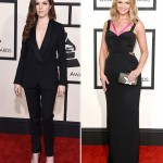2015 Grammy Awards fashion black Anna Kendrick Miranda Lambert