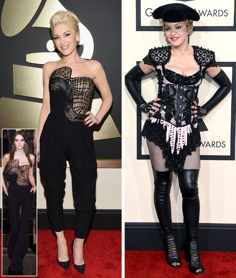 2015 Grammy Awards fashion Gwen Stefani Madonna