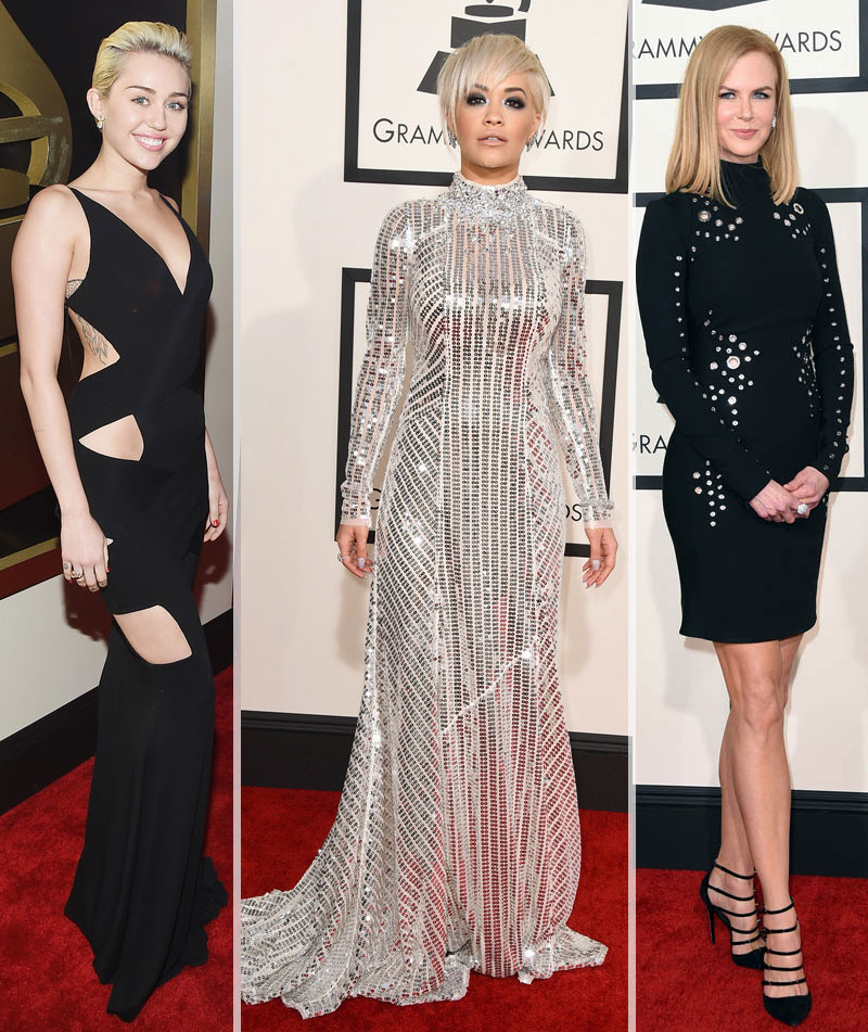 2015 Grammy Awards fashion Miley Cyrus Rita Ora Nicole Kidman