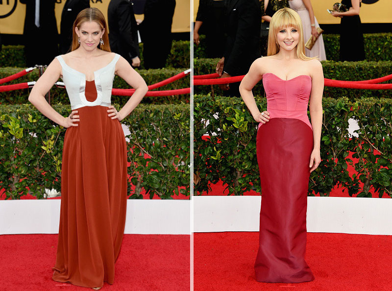 2015 SAG Awards Red Carpet dresses Anna Chlumsky Melissa Rauch