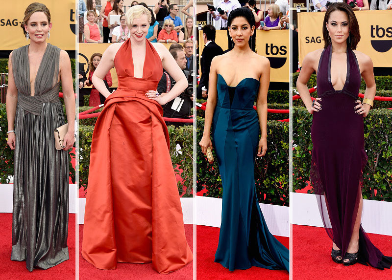 2015 SAG Awards Red Carpet trend cleavage