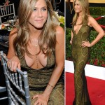 2015 SAG Awards red carpet trends cleavage Jennifer Aniston Galliano