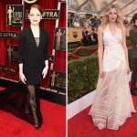 2015 SAG Awards Red Carpet trends Emma Stone Dior Laura Carmichael Vionnet