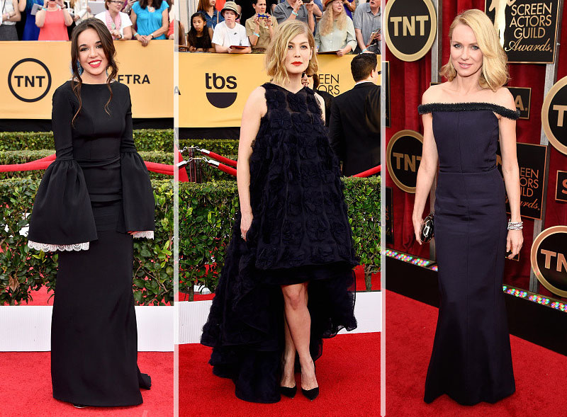 2015 SAG Awards Red Carpet weird dresses Lorelei Linklater Rosamund Pike Naomi Watts