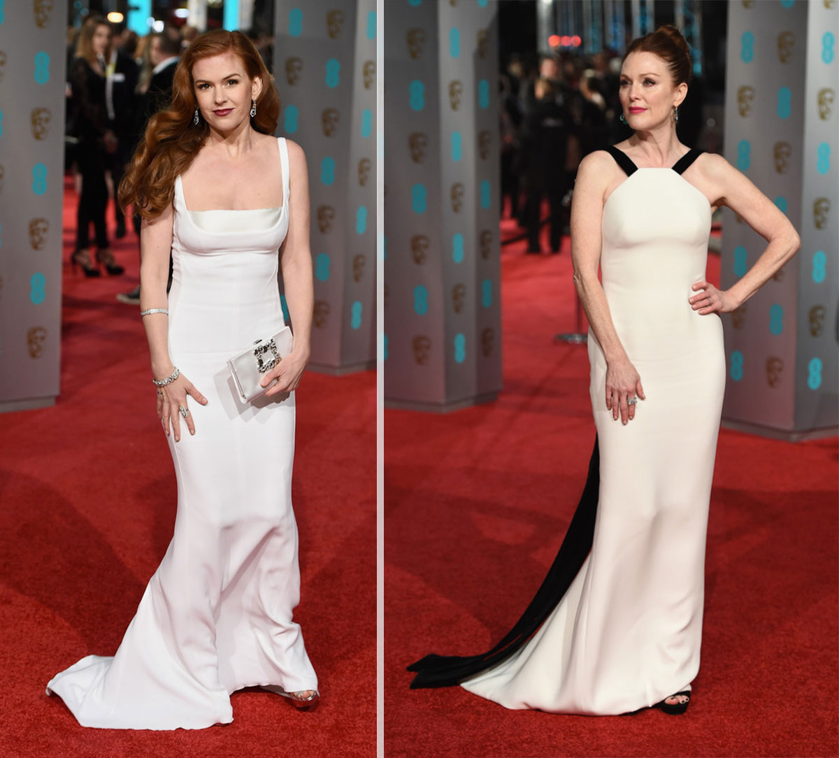 2016 Bafta Red Carpet dresses Isla Fisher Julianne Moore
