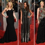 2016 BAFTA Red Carpet Dresses: Red & Black Elegance