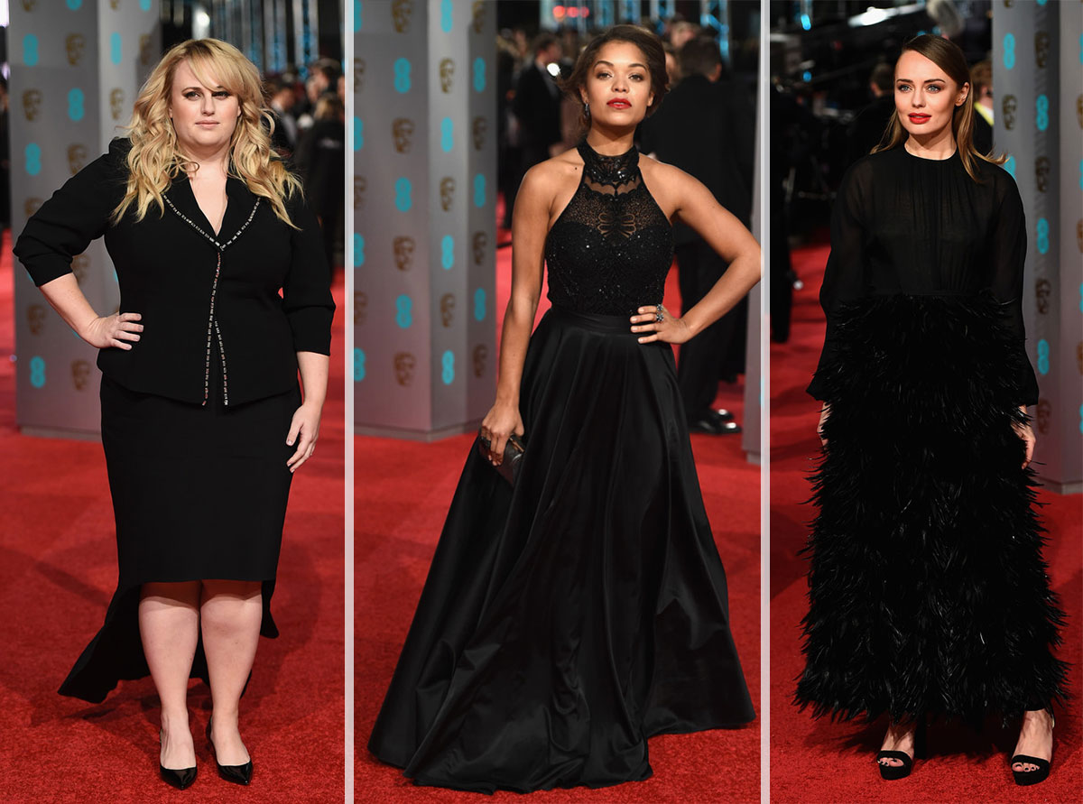 2016 Bafta Red Carpet dresses Rebel Wilson Antonia Thomas Laura Haddock