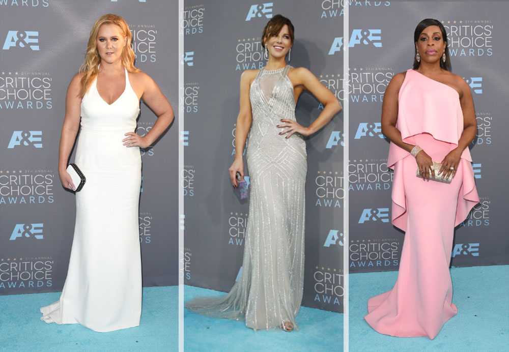 2016 critics choice awards dresses Amy Schumer Kate Beckinsale Niecy Nash
