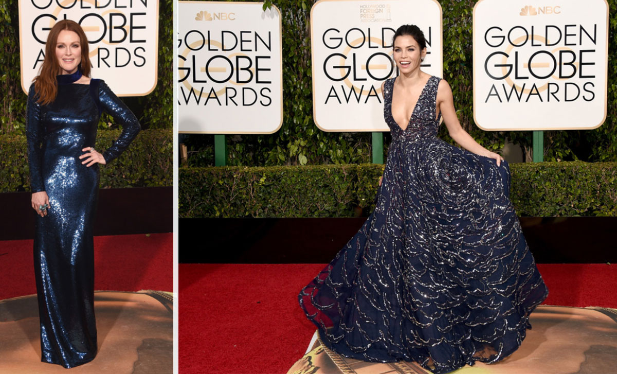 2016 Golden Globes Red Carpet dresses Julianne Moore Jenna Dewan Tatum