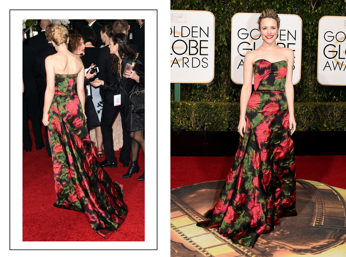 2016 Golden Globes Red Carpet Rachel McAdams Lanvin dress