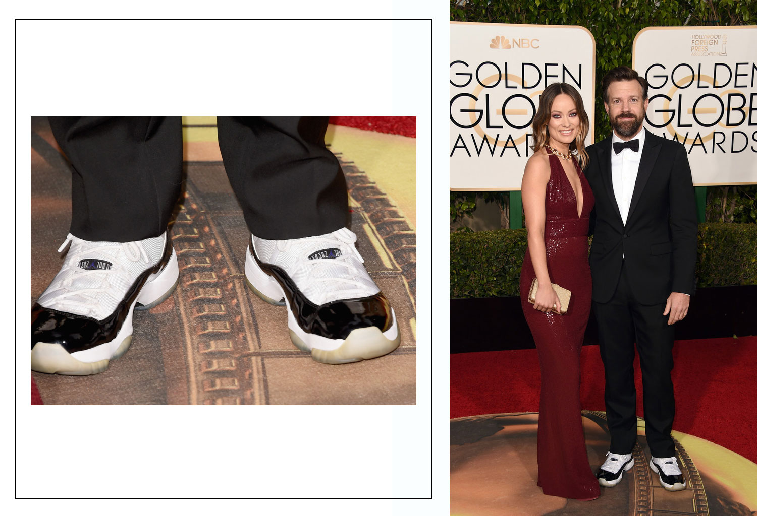 2016 Golden Globes Red Carpet shoes Jason Sudeikis Air Jordan