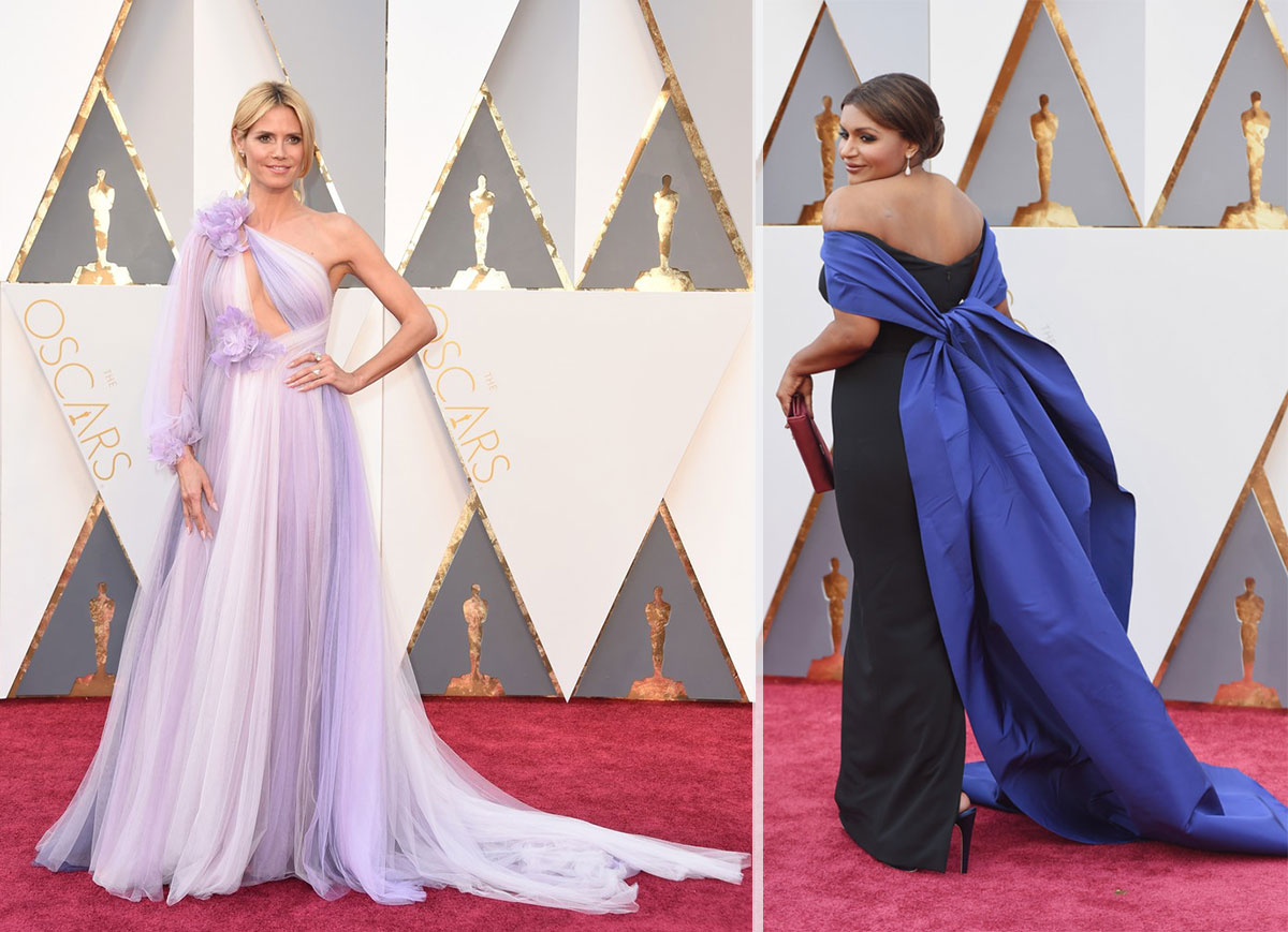 2016 Oscars Red carpet dresses Heidi Klum Mindy Kaling