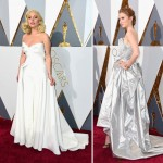 2016 Oscars Red Carpet dresses Lady Gaga Lily Cole