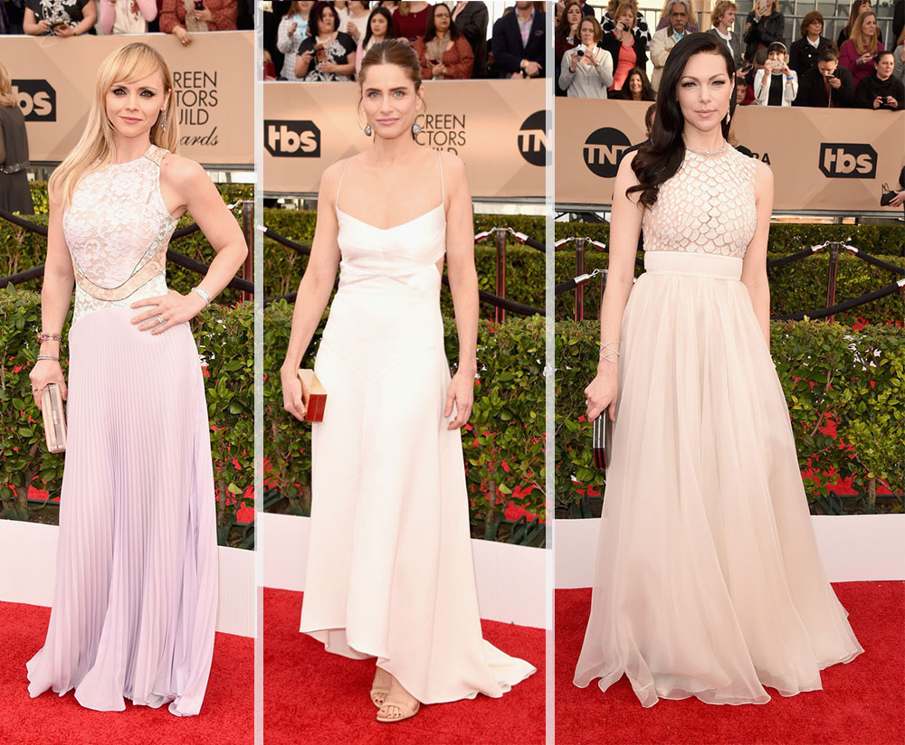 2016 SAG Awards Red Carpet dresses Christina Ricci Amanda Peet Laura Prepon