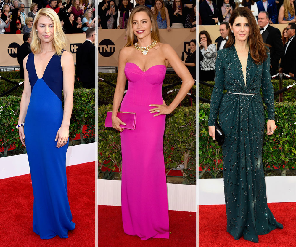 2016 SAG Awards Red Carpet dresses Claire Danes Sofia Vergara Marisa Tomei