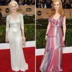 2016 SAG Awards Red Carpet dresses Helen Mirren Nicole Kidman