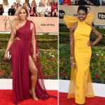 2016 SAG Awards Red Carpet dresses Laverne Cox Sola Bamis