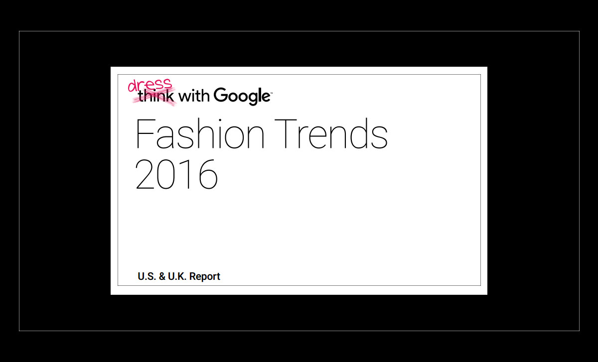 Google Is Now Telling Us What To Wear?