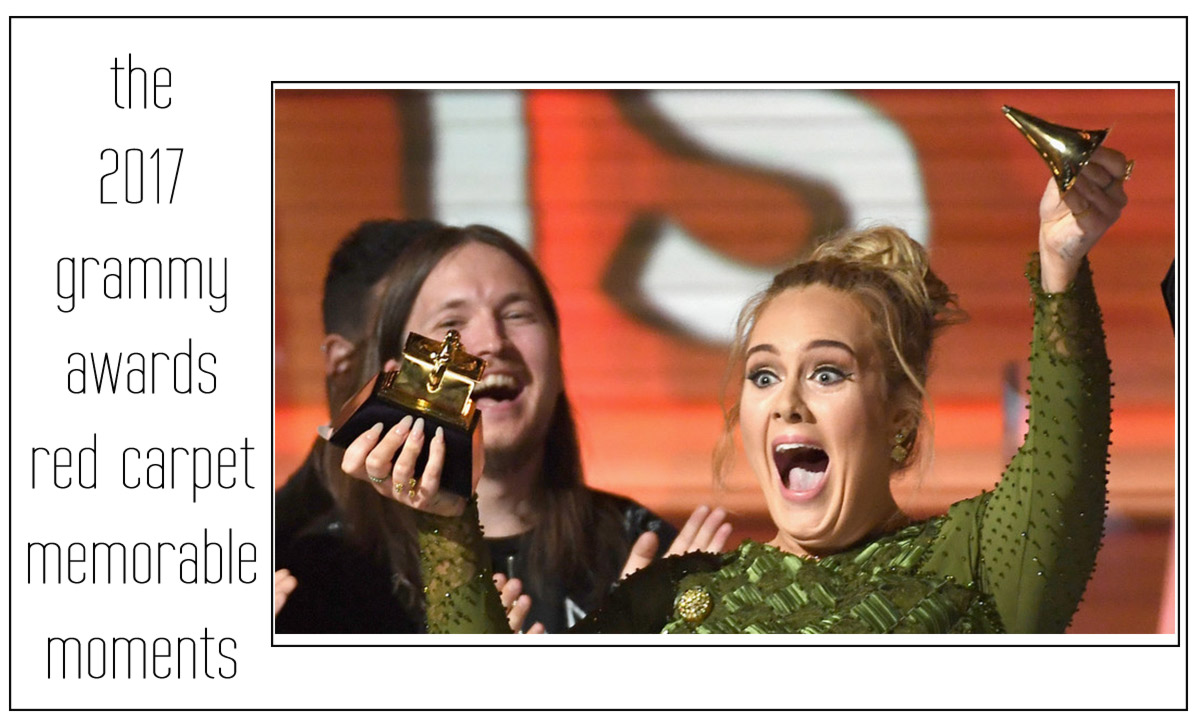 2017 grammy awards memorable adele breaking award