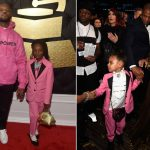2017 grammy awards red carpet blue ivy carter joy hanley