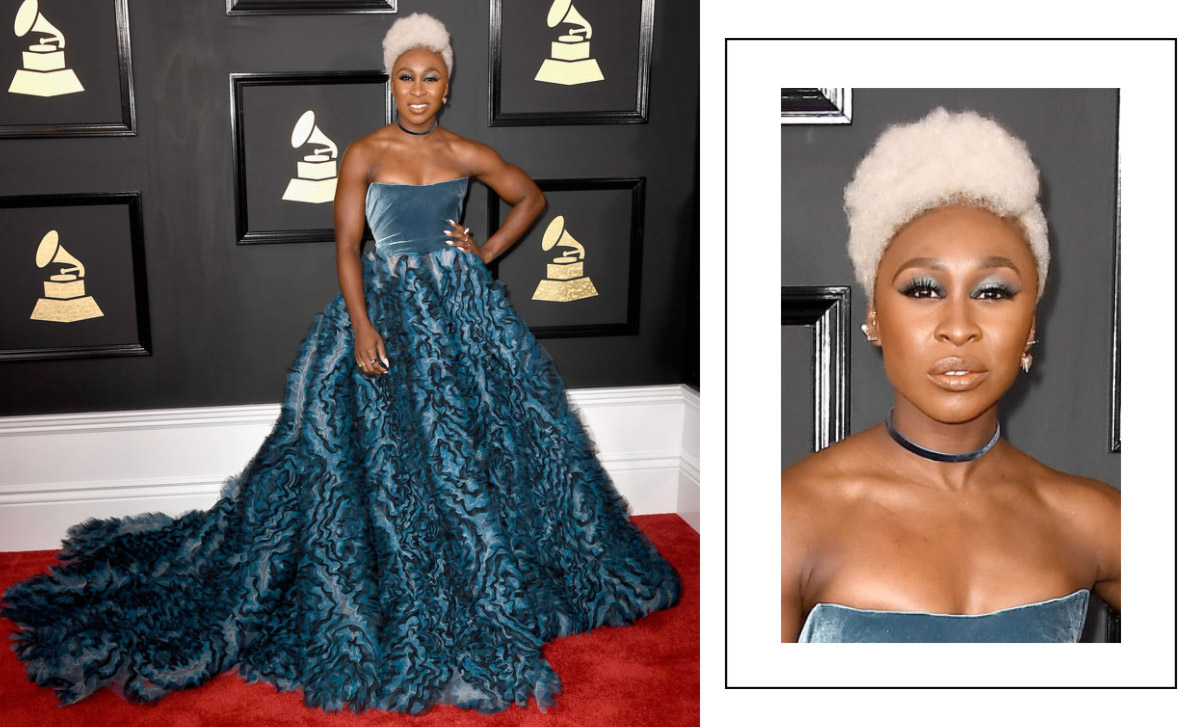 2017 grammy awards red carpet cynthia erivo