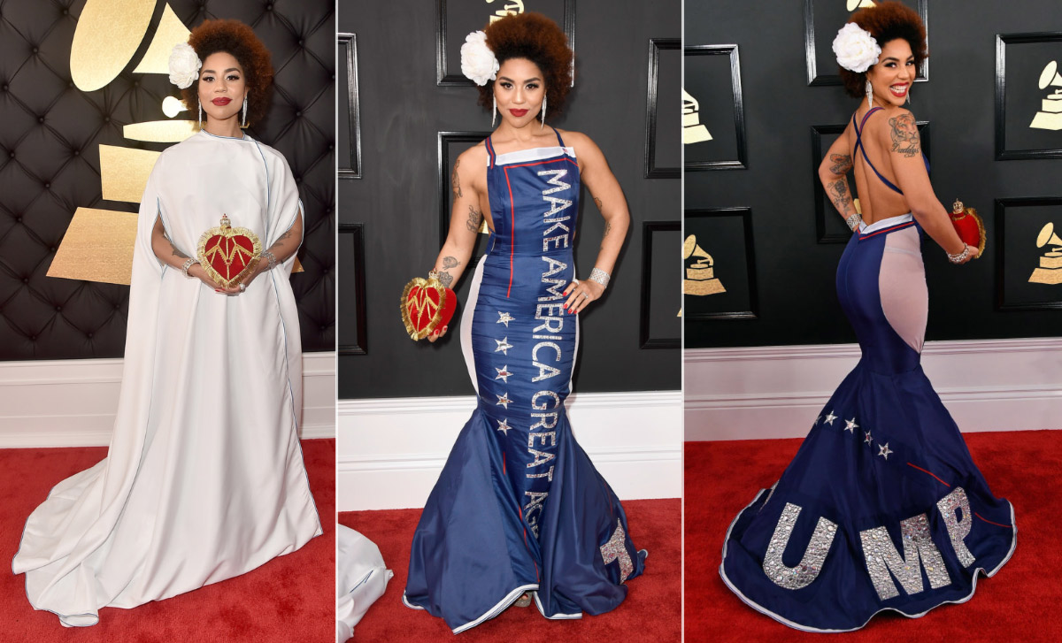 2017 grammy awards red carpet joy villa