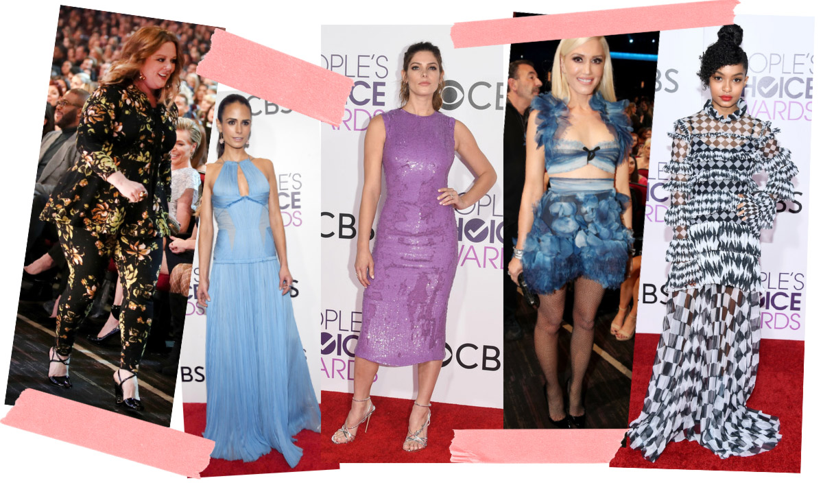 2017 People s Choice Awards red carpet dresses