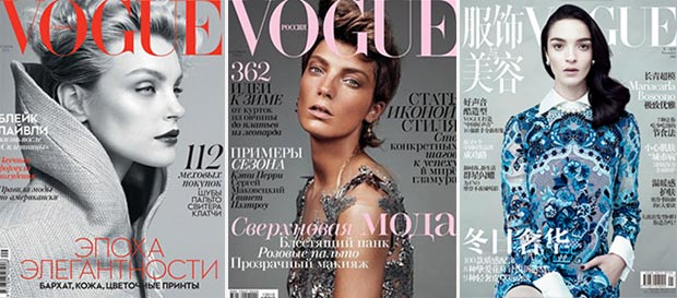 3 fabulous international Vogue covers Fall 2013