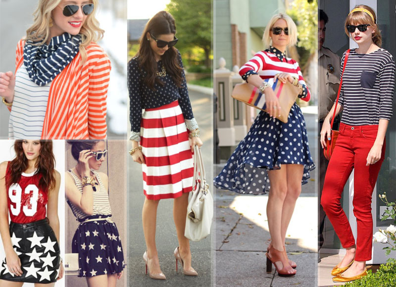 4th of July outfits wear stars and stripes