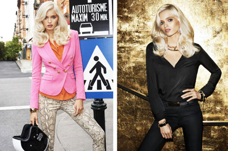 Abbey Lee Kershaw H M Spring 2012 magazine