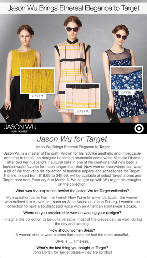 About Jason Wu Target Collection Jason Wu's Target Collection Countdown