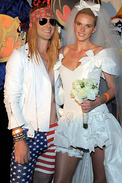 Adam Levine Anne V Married for Halloween