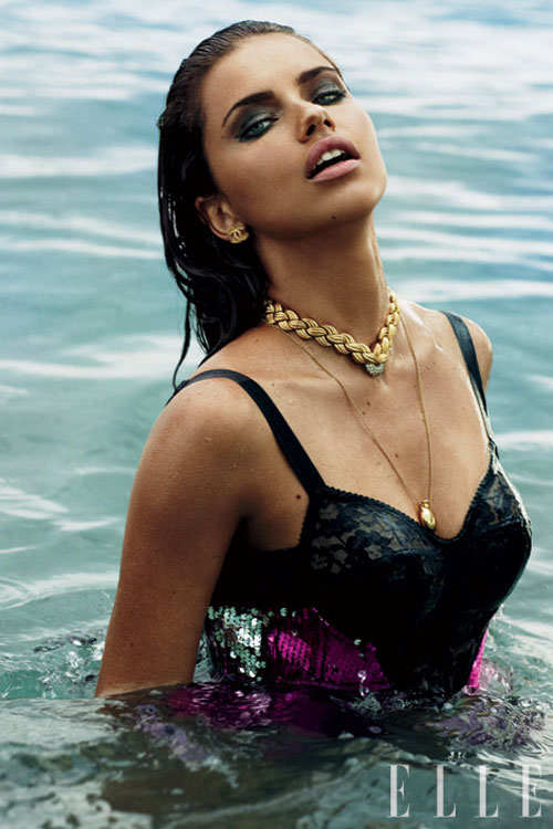 Adriana Lima water photo Elle