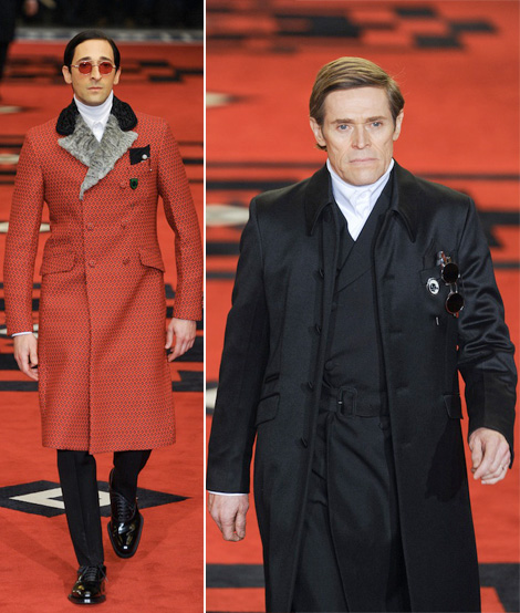 Prada's Men Fall 2012 Catwalk Adrien Brody, Gary Oldman, Tim Roth, Willem Dafoe
