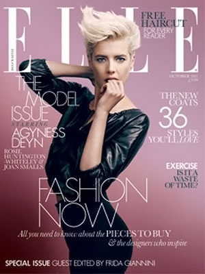 Agyness Deyn's Elle UK Cover October 2011