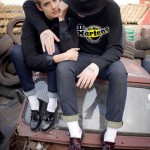 Agyness Deyn preparing collection with Dr Martens