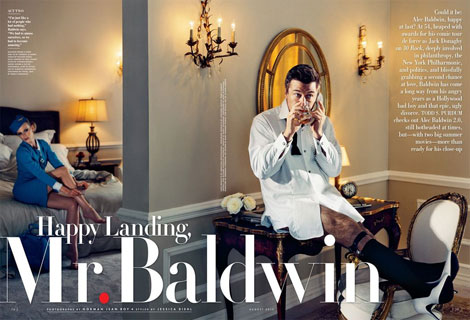 Alec Baldwin Got Married, Also On Vanity Fair August 2012 Cover