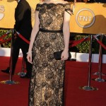 Aleksa Palladino black lace dress 2012 SAG Awards